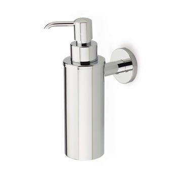Wall Mounted Round Brass Soap Dispenser